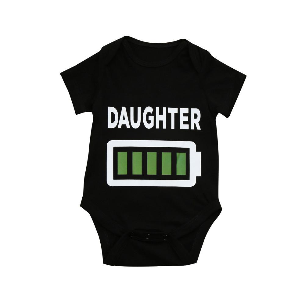 76fad660e 2019 Newborn Infant Baby Girl Letter Electricity Print Bodysuit ...