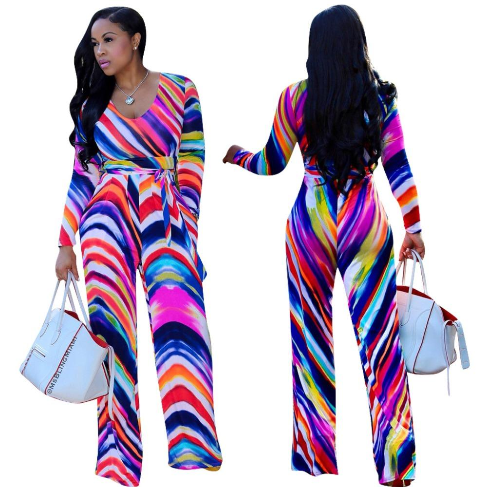 2d76a76f2b4 Double Side Pockets Casual Jumpsuit LADY V Neck Long Sleeve Straight ...