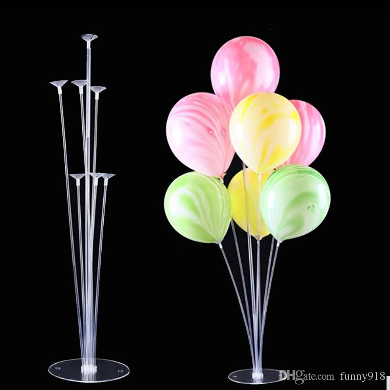 Balloons Column Stand Clear Plastic Balloon Stick Birthday Party