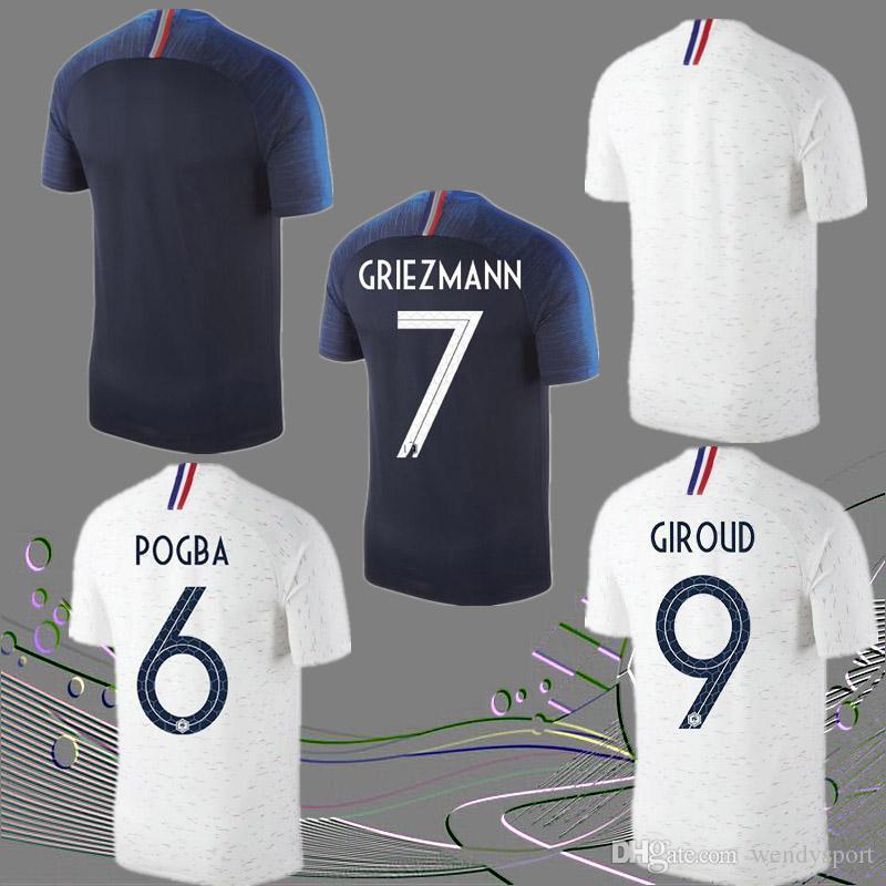 9d9a6682c 2018 World Cup Soccer Jerseys POGBA GRIEZMANN Mbappé DEMBELE KANTE 18 19  Home Away Soccer CAMISETA DE FUTBOL 2018 Soccer Jerseys Pogba Football  Shirts 2018 ...