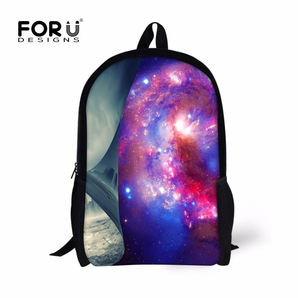 3fed2683491cd Großhandel FORUDESIGNS Galaxy Print Kinder Schultasche