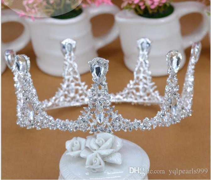 Europäische und amerikanische luxuriöse Retro-Kuchen Krone Königin Silber gekrönt Krone Braut