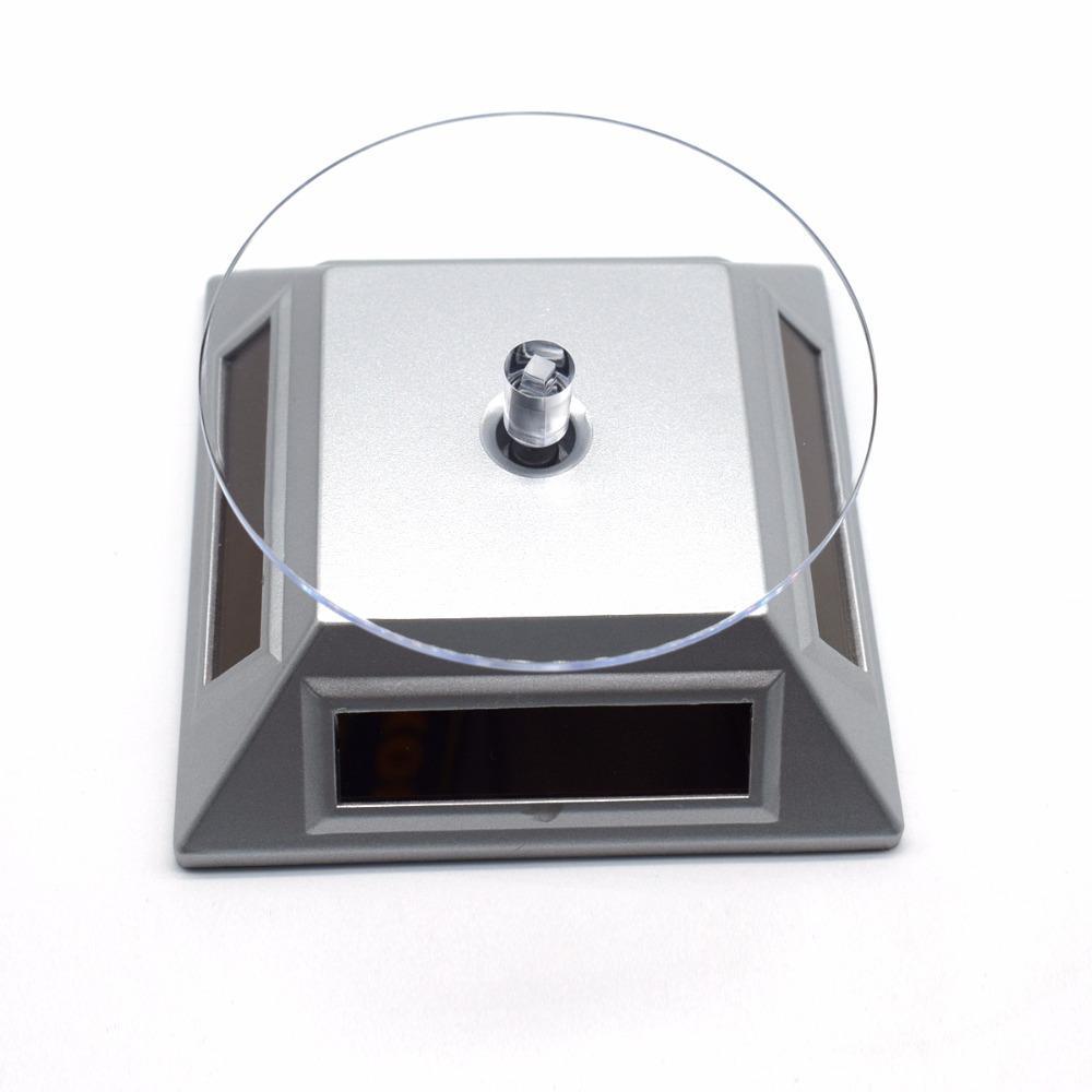 New Solar Showcase 360 Turntable Rotating Jewelry Watch Ring Phone Stand Display Jewelry Organizer Hard Display Stand