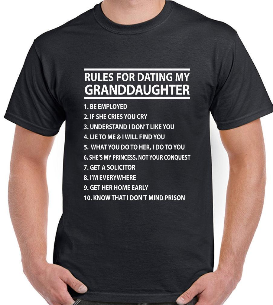 Cool T Shirts Online Design Rules For Dating My Granddaughter Crew