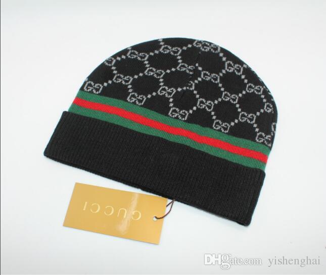 06cc29aba04 Winter Unisex Brand Canada CA Men Fashion Knitted Hat Classical Sports Skull  Caps Female Casual Outdoor Women Beanies 321 Beanie Caps Slouchy Beanie  Crochet ...