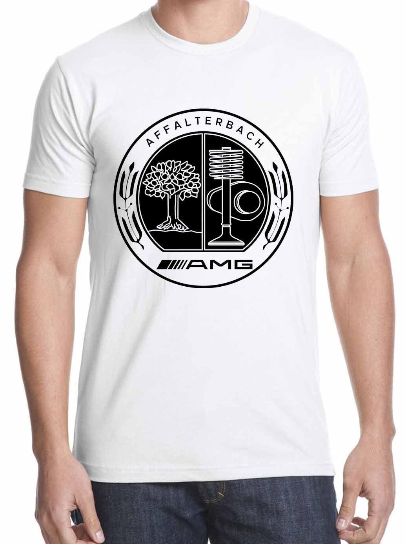 b82e0cf47c995f Compre Camiseta MCD Benz AMG Design AMG Affalterbach Logotipo Mens 2018  Marca De Moda T Shirt O Pescoço 100% Algodão T Shirt Tops Tee Personalizado  De ...