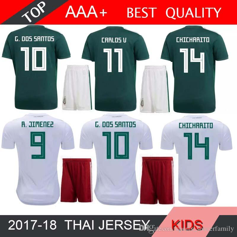 e7e74af1e 2018 World Cup Mexico Soccer Jersey Kids Kit 2018 Mexico Home Green ...