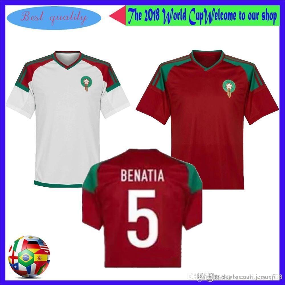 Compre Marrocos 2018 Camisas Do Futebol Da Copa Do Mundo Para A Venda!  Muito Inventário. . Peça Um Grande Desconto Agora De High quality supplie cd9dfe7df24a2