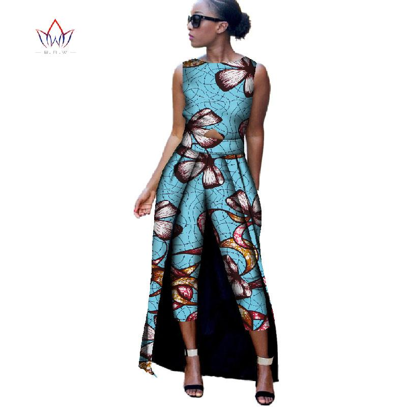 2b4f9fb97d5a 2019 BRW 2017 New Fashion Africa Cotton Print Romper African Bazin Riche  Jumpsuit For Women Dashiki Fitness Jumpsuit For Lady WYD8 From Clothesb911