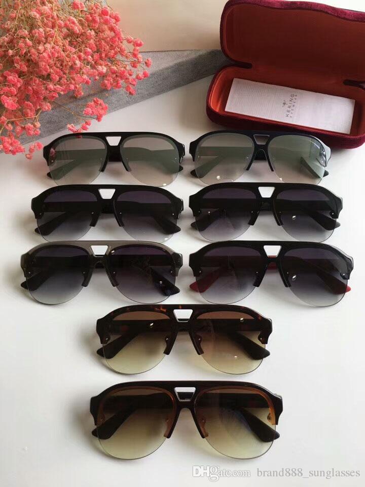65bf2acf6 Compre Nova Moda Óculos De Sol Da Série Abelha G0170 Modelo Metade Do  Quadro Uv400 Óculos De Proteção De Alta Qualidade Com A Caixa Original De  ...