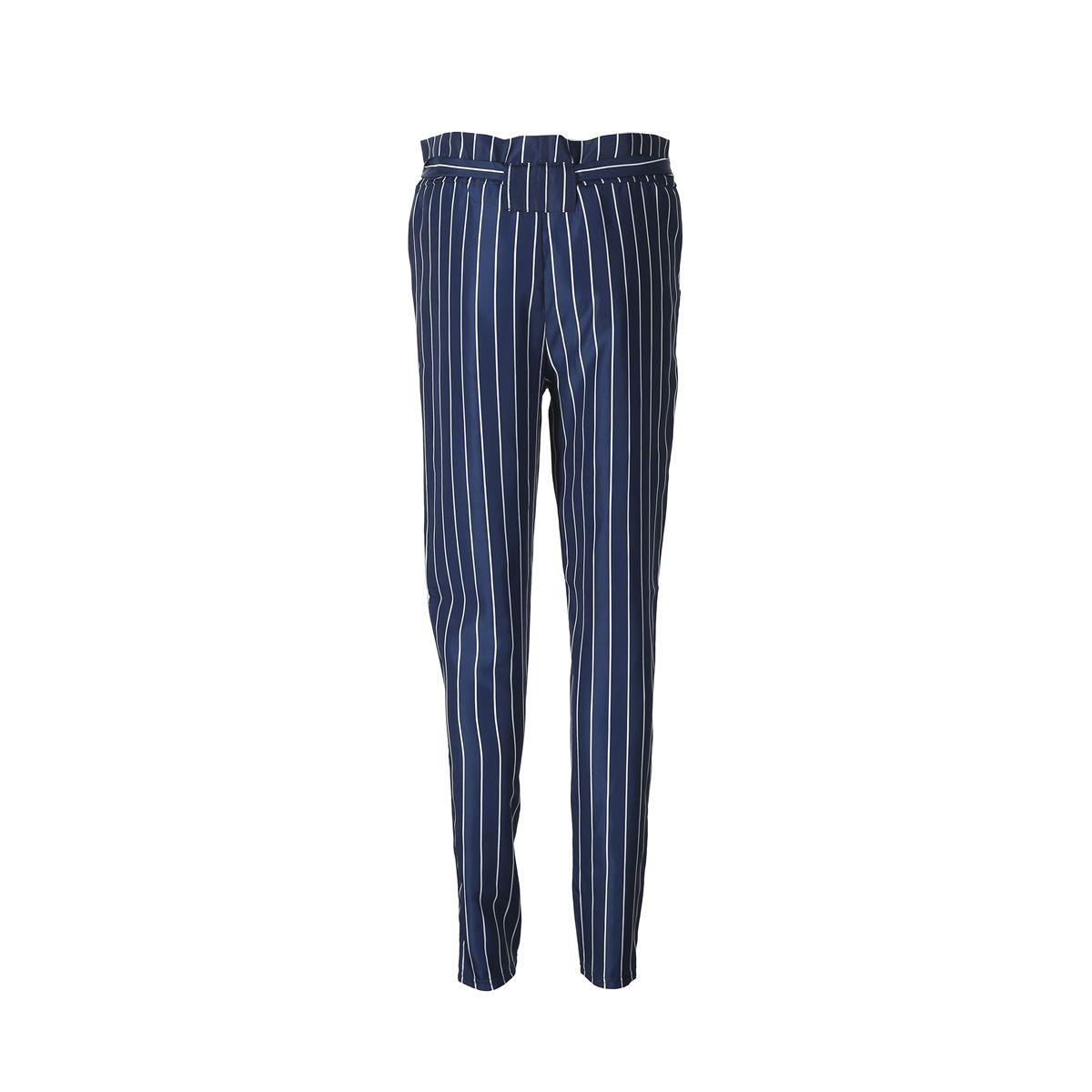 2018 neue Art und Weise Frauen-hohe taillierte gestreifte Harem-Hosen-elastische Taillen-Plaid Harem-lange Hosen Beiläufige weibliche lose Hose