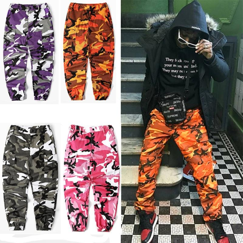 f60f692688 Color Camo Cargo Pants 2017 Mens Fashion Baggy Tactical Trouser Hip Hop  Casual Cotton Multi Pockets Pants Streetwear Canada 2019 From Fitchhh, ...