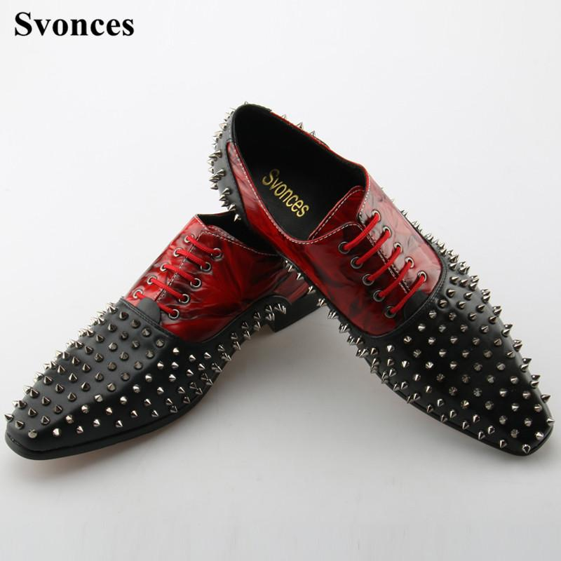Svonces Lace Up Men Loafers Leather Genuine Luxury Designer Rivets Mens  Loafer Shoes Black Tan Italian Dress Shoes Men Moccasin Wedge Shoes Casual  Shoes For ... 2605e76c3c78