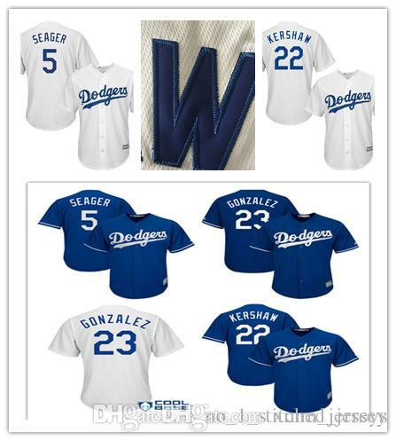 f8c9091a343 2019 Men S Los Angeles Dodgers Adrian Gonzalez 23  Clayton Kershaw 22 Corey  Seager 5 Majestic Royal Alternate Cool Base Player Stitched Jers From ...