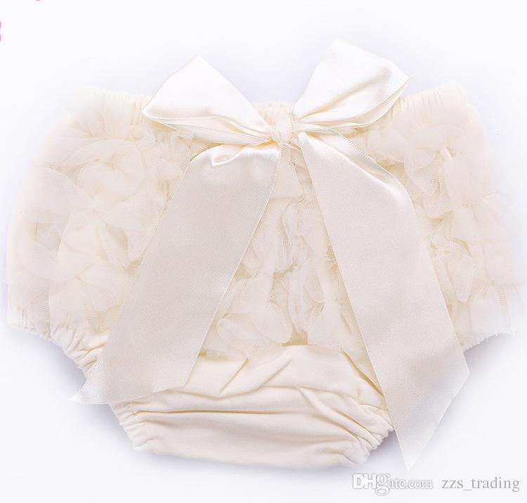 Baby-Baumwollrüschen-Bogen-Kurzschluss-nette Baby-Spitzeblühers neugeborene Blumen-Ballettröckchen-Windelabdeckung Kleinkind-1. Geburtstagsfotografie-Unterwäsche Hosen