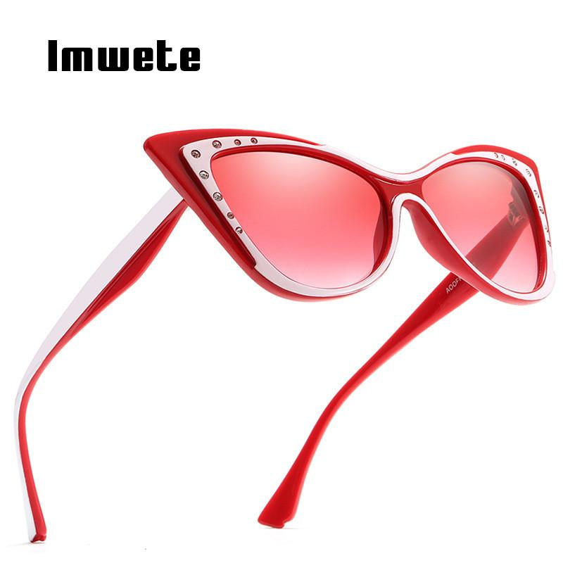 98e6de309dc Imwete Diamond Sunglasses Women Cat Eye Sun Glasses Retro Butterfly Frame  Sunglass Shades Female Luxury Designer Glasses UV400 Prescription Sunglasses  ...
