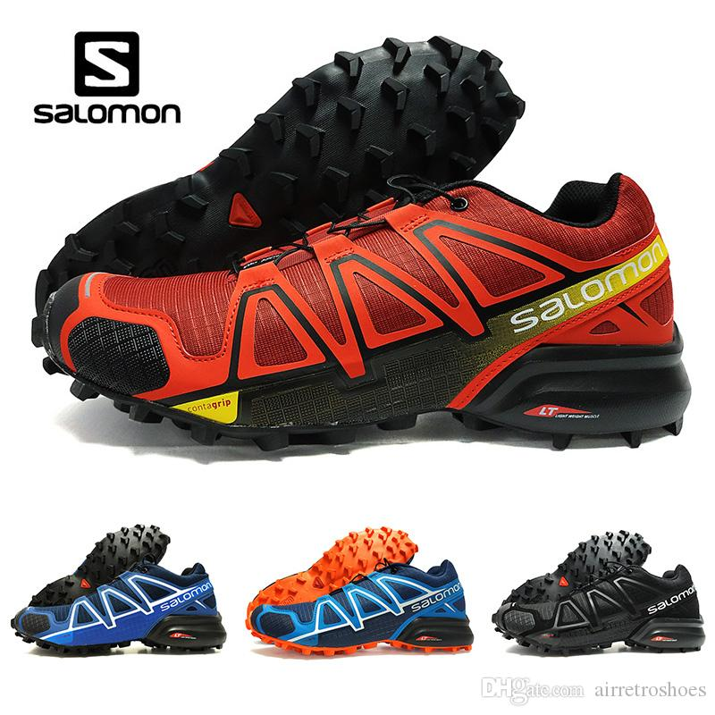 2018 Summer New Salomon Speedcross 4 4s Red Trail Runner Men's And Women's Sports Shoes Fashion Hot Sale Sneakers Outdoor Running Shoes