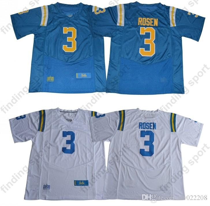 uk availability 0418a 64758 NCAA UCLA College Football Jersey Bruins 3 Josh Rosen White Christian Kirk  Chris Campbell Chase Edmonds Light Blue baby 2018 Draft