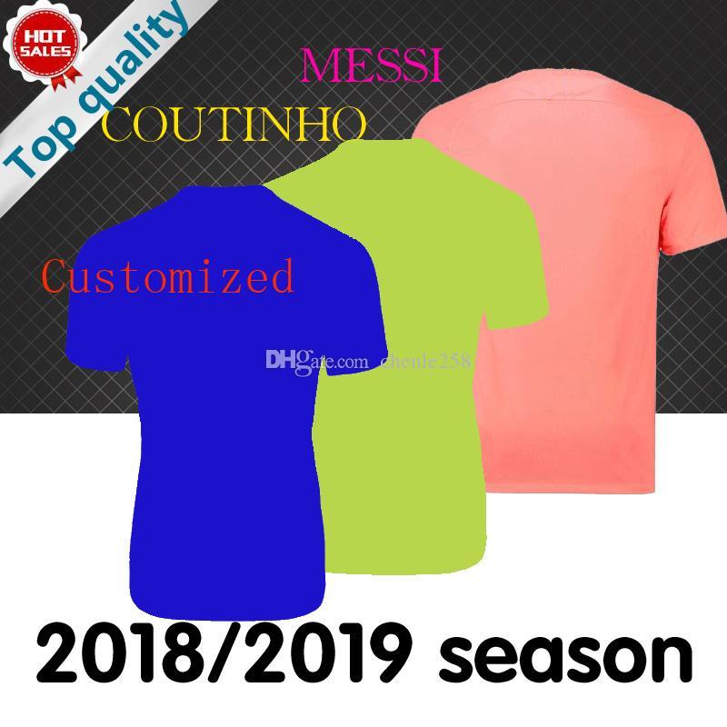 2d1eef6f20 Compre 2019 Barcelona   10 MESSI Camisas De Futebol Casa Fora Terceira  Camisa De Futebol 18 19 Personalizado DEMBELE SUAREZ COUTINHO Clube Equipe  Uniforme ...