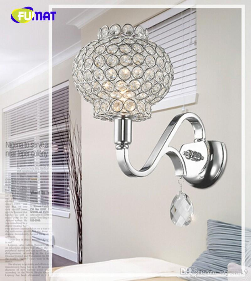 New chrome design crystal ball wall lamp wall light sconces lustre LED light fixture for home lamp