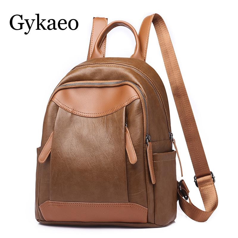 2f65726804 Retro Women Leather Backpack College Preppy School Bag For Student Laptop Teenage  Girls Ladies Daily Back Pack Shop Trip Female Backpack Purse Dog Backpack  ...