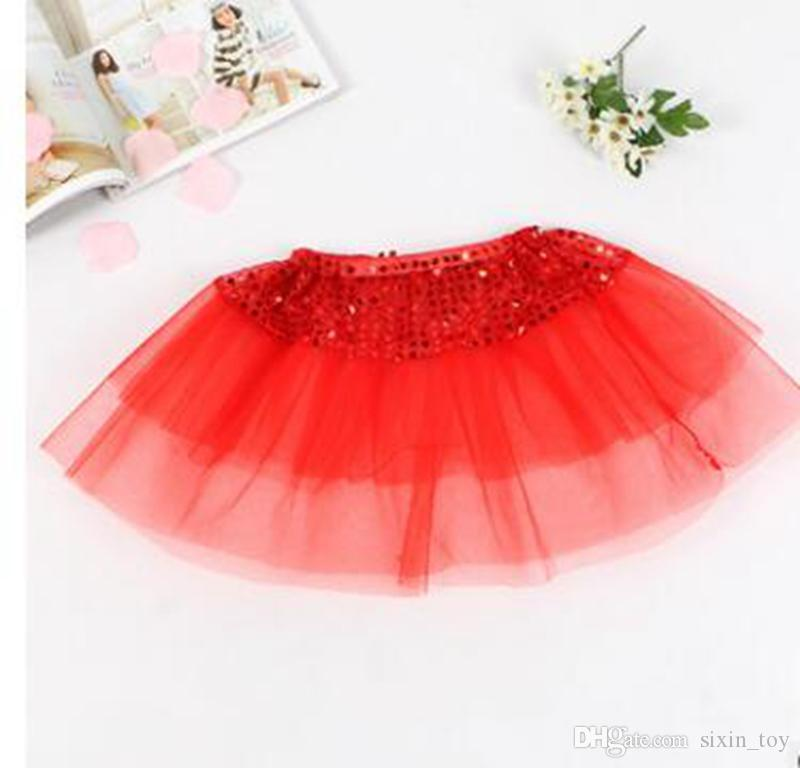 e6df3d745bf66 Kids Girls Tutu Skirt Bling Sequin Princess Skirts Children Girl Shine  Ballet Dancewear Kids Short Dance Skirt KKA3967 100pcs