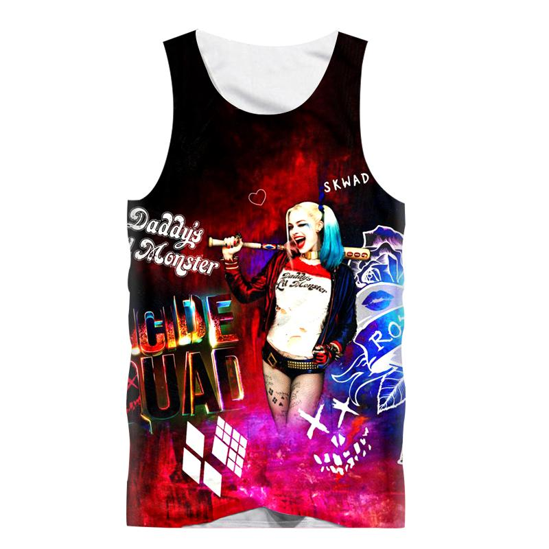 2e6a649601245 2019 New Funny Tank Tops Men Sleeveless Vest T Shirt Punk Harley Quinn 3D  Print T Shirt Boy Bodybuilding Undershirt Fashion Tanktop From Glorying