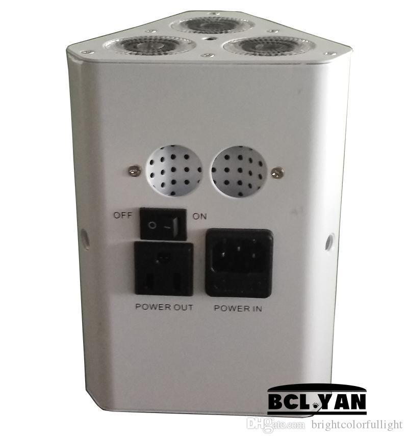 6XLOT 3*18W RGBWAUV Battery powered & IR remote Wedge LED par/DJ light led battery Wireless uplighting for sale/IR control truss