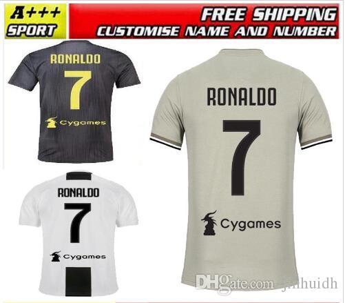 387e5789d 18 19 Juventus Soccer Jersey Home Away 3rd Goalkeeper 7 RONALDO 10 ...