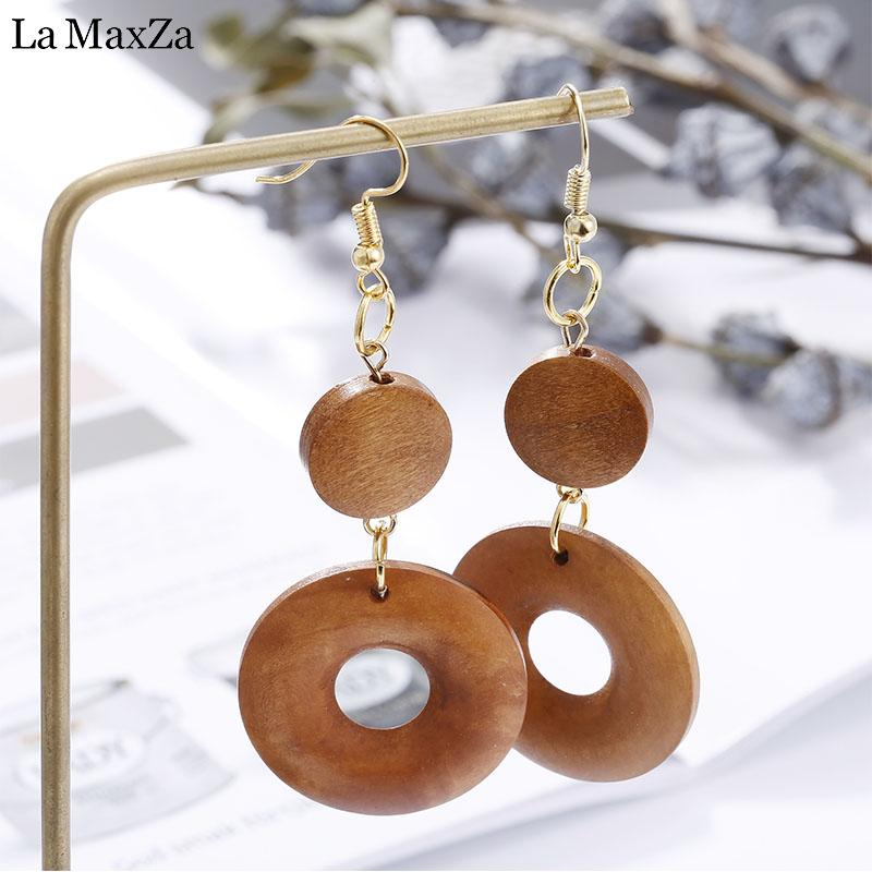 ca27358530e304 2019 Natural Wood Earring Wooden Earrings For Women Ethnic Exaggerated  Statement Round Circles Dangle Earrings Girls Fashion Jewelry From  Ximamout, ...