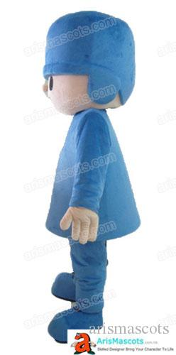 Adult Size Pocoyo Mascot Costume Cartoon Mascot Costumes for Kids Birthday Party Custom Mascots at Arismascots Character Design Company