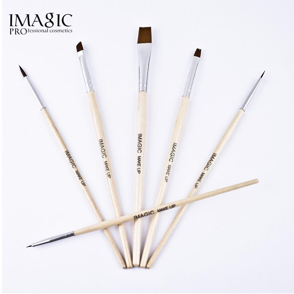 IMAGIC Body Paint Makeup Brushes Painting Face Paint Brush Set maquiagem Tools Wooden Handle Halloween Cosmetics 6Pcs Art Kit