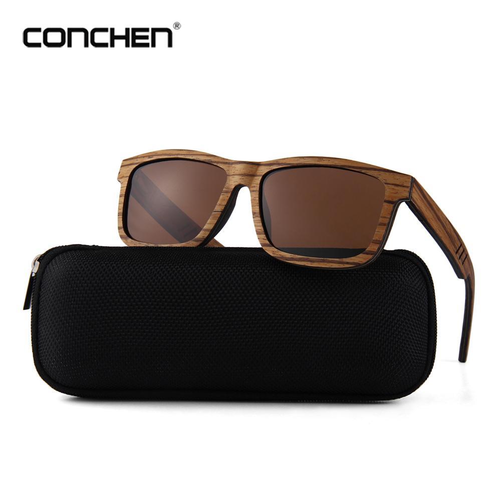 09449e356f CONCHEN New Luxury Wooden Sunglasses Women Polarized Spring Hinge Mens Sun  Glasses 2018 Heart Sunglasses Circle Sunglasses From Yongq