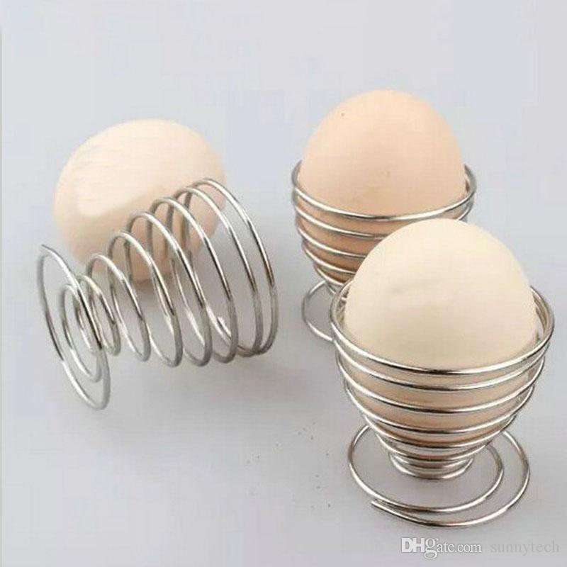 Creative Boiled Eggs Rack Stainless Steel Spring Wire Tray Egg Cup Cooking Tool Kitchen Storage Holders ZA5804