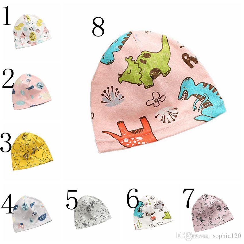 8f9bcb269 Baby Hat Fashion New Infant Hat Breathable Cartoon Print Color Hat Cotton  Newborn Photography Props Cartoon Pattern Baby Cap