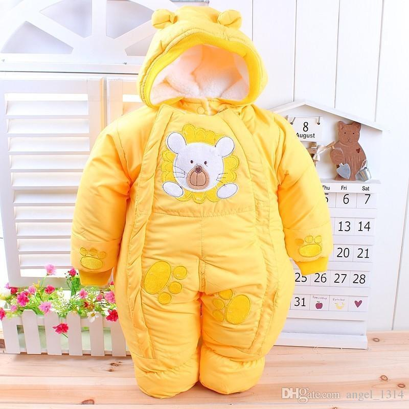 cbc0552a8 Baby Clothes Winter Newborn Baby Rompers 2018 New Cotton-padded Baby ...