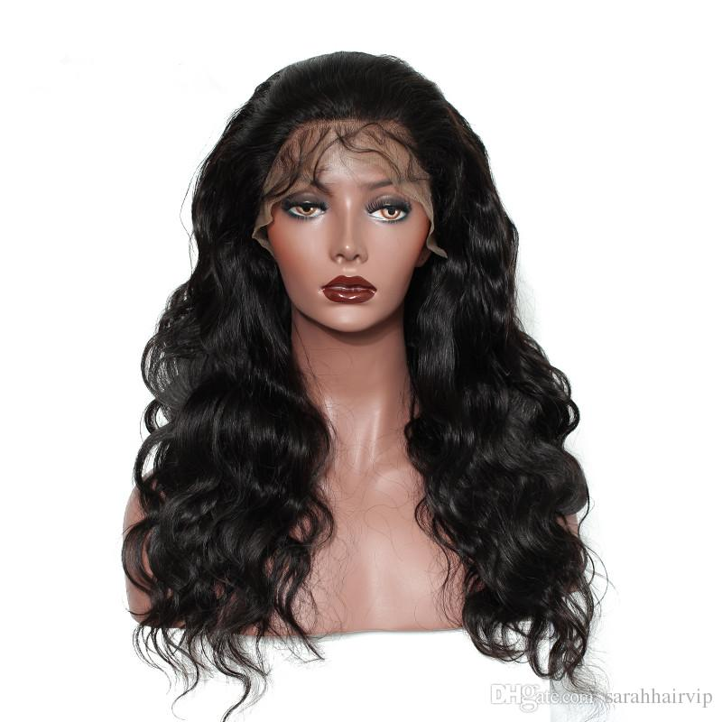 9A Pre Plucked Natural Hairline Full Lace Wigs For Black Women Body Wave Brazilian Virgin Human Hair Lace Front Wigs With Baby Hair