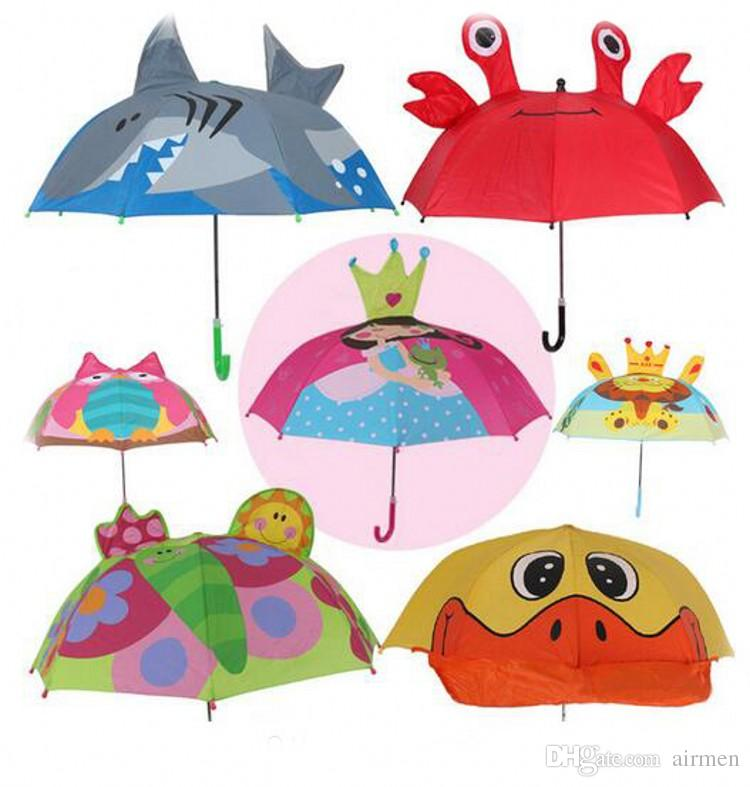 6fb6aced39636 2019 New Arrival 18 Inch Animal Kids Umbrellas Cute Princess Girls Boys  Portable Small Umbrellas High Quality Parasol For Age 3 6 From Airmen, ...