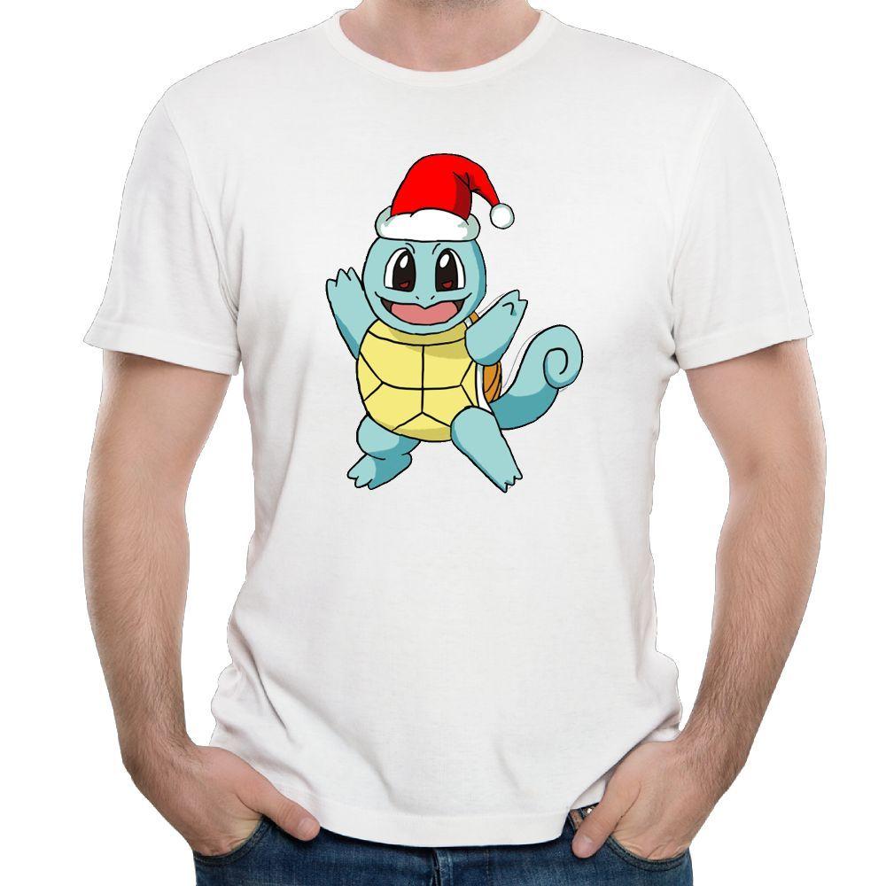 Tee-shirt à manches courtes pour hommes Tee-shirt pour hommes T-shirt à manches courtes Squirtle Christmas