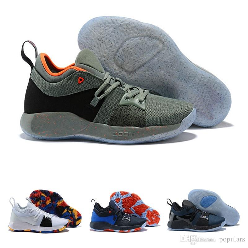 new arrival fcca9 9783c The Bait II Taurus Paul George PG 2 Basketball Shoes OKC Home PG2 2S Hot  Punch Mamba Mentality Pure Platinum Sports Sneakers 40-46