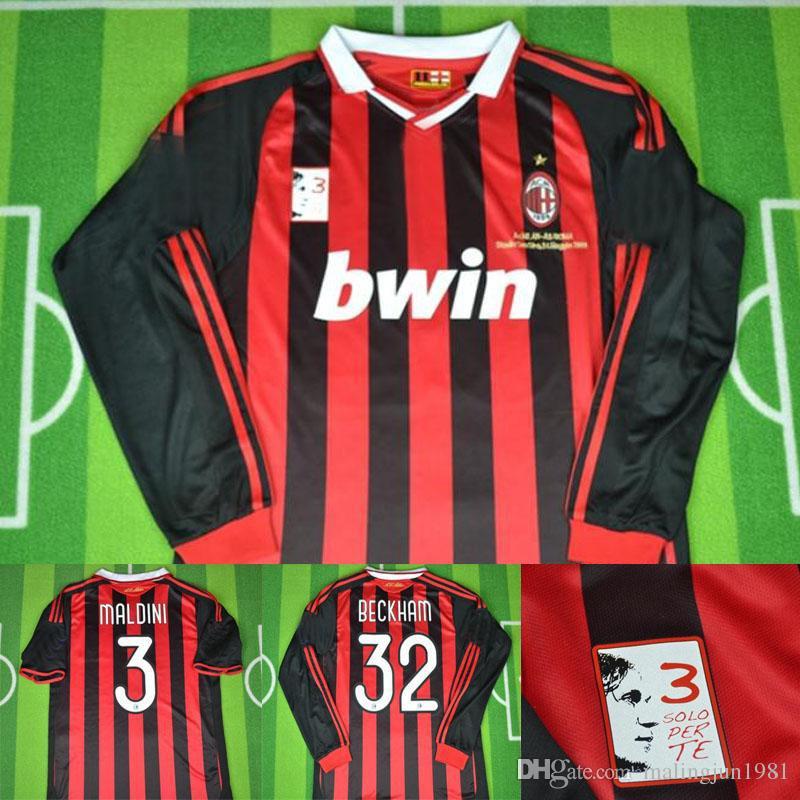 2019 09 10 AC Milan RETRO Soccer Jersey Beckham Kaka Ronaldinho Inzaghi  Vintage 2010 Milan MAGLIA Calcio Maillot Vintage Camiseta De Futbol From ... f15f4387308cf