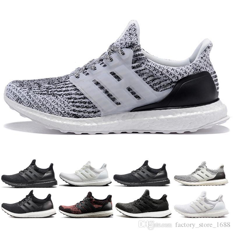 08658bb9ff58a 2018 Ultra Boost 3.0 4.0 Triple Black White Men And Women Running ...