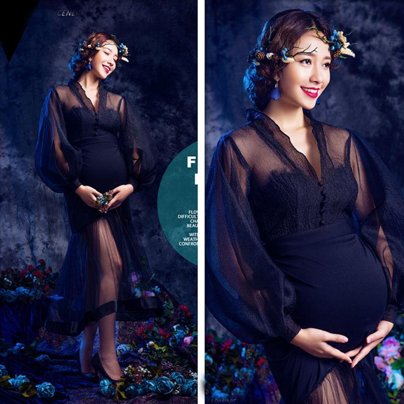 c6bd0e48aa00 Acheter Robes De Maternité En Dentelle Pour Séance Photo Grossesse Robe  Accessoires De Photographie De Maternité Robes Pour Femmes Enceintes  Vêtements De ...