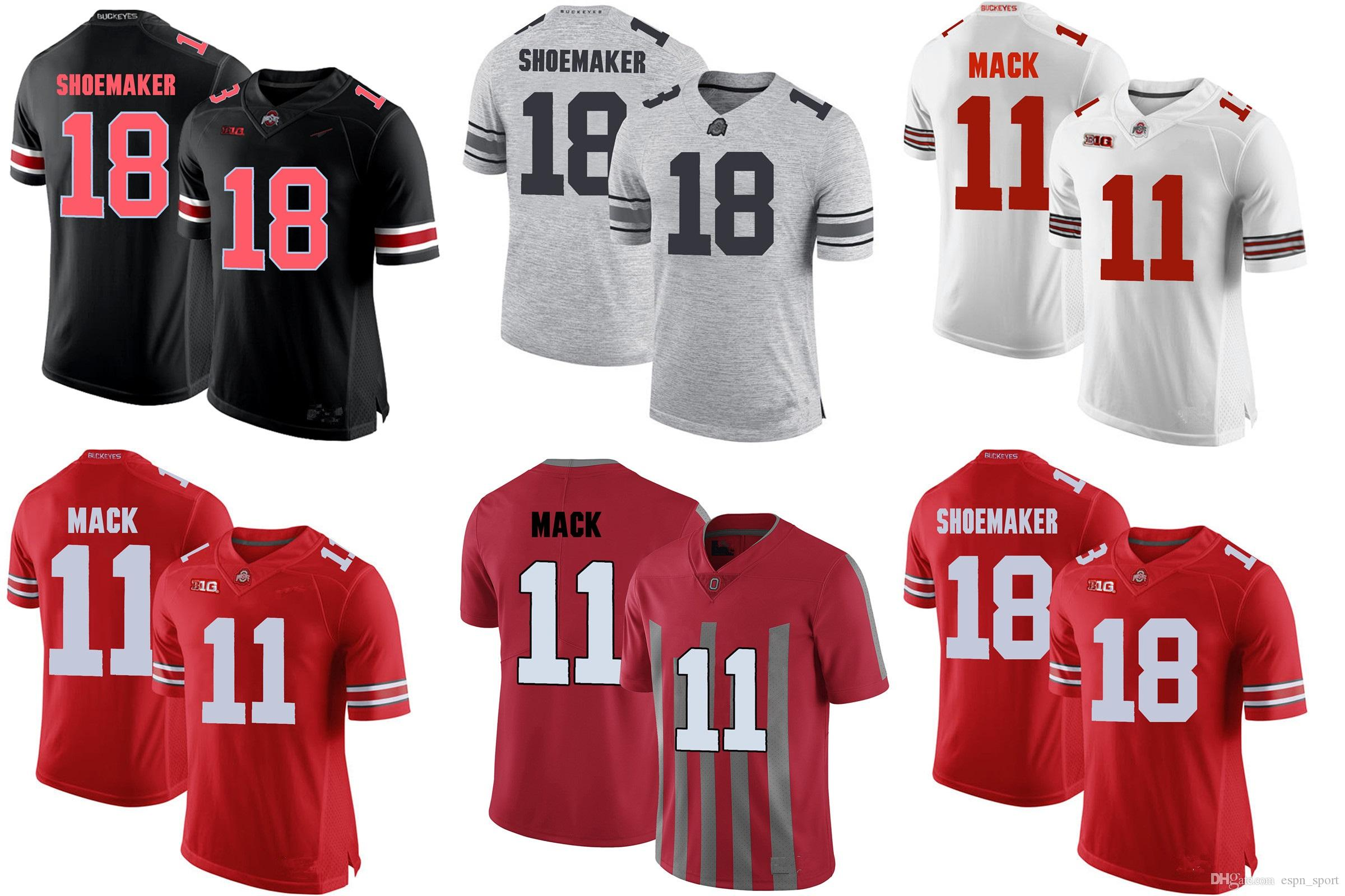 Factory Outlet- NCAA Ohio State SHOEMAKER 18 Ohio State MACK 11 College  Football Jerseys Stitched Jersey Sports Jerseys SHOEMAKER Jersey Cheap  Sports ... f9c5416d1
