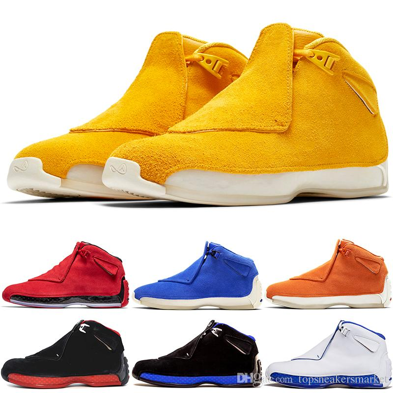 07b56a351edd Men 18 18s Toro Basketball Shoes Red Suede Yellow Orange Blue Royal Cool  Grey OG CDP Mens Sport Trainer Athletic Sneakers 8 13 Discount Basketball  Shoes For ...