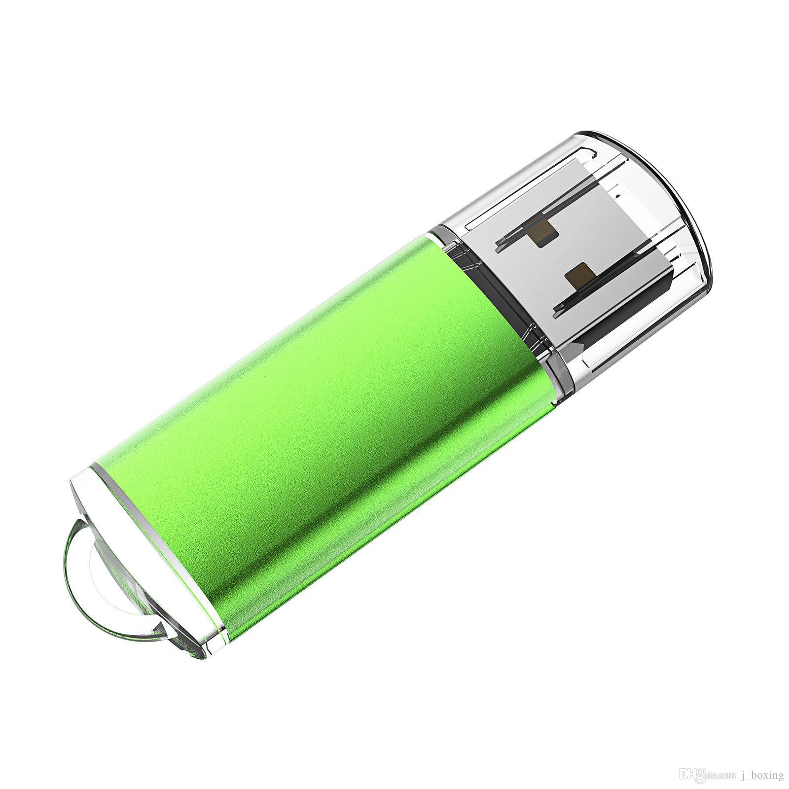 Green 64GB USB 2.0 Flash Drives High Speed Rectangle Memory Sticks 64gb Thumb Pen Storage for PC Laptop Macbook Tablet Flash Pen Drive