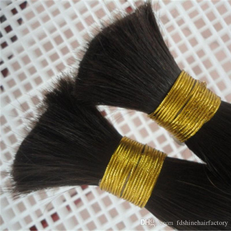 Indian Bulk Hair Straight Bulk For Braiding Human Hair Extensions 8-26 Inch In Stock Natural Color FDSHINE