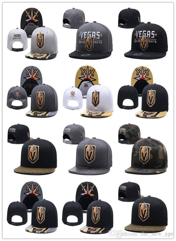 9dde7bd0a41b4 New Caps Vegas Golden Knights Hockey Snapback Hats Cap Gold Black Gray  Visor Team Hats Mix Match Order All Caps Top Quality Hat
