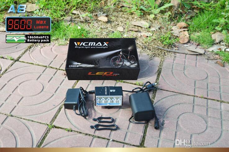 Ultra brillante 8 nuclear CREE importada T6 lámpara de bicicleta T6 faros 9600 lúmenes potentes bombillas