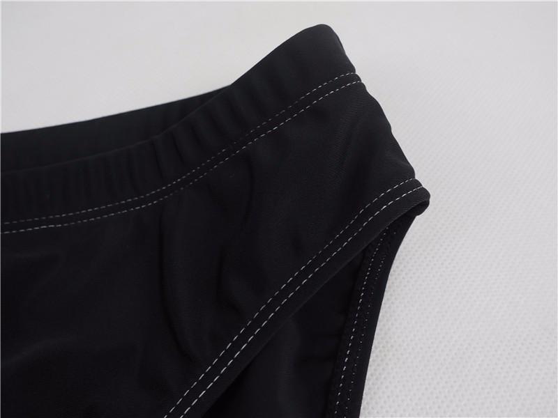 Men Briefs Vintage Printed Swimwear Sexy Swim Briefs Black Swimsuit Mens Swimwear Swimming Trunks